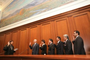 ABAS Law Foundation 2012 Board being sworn in by the Chief Justice of California